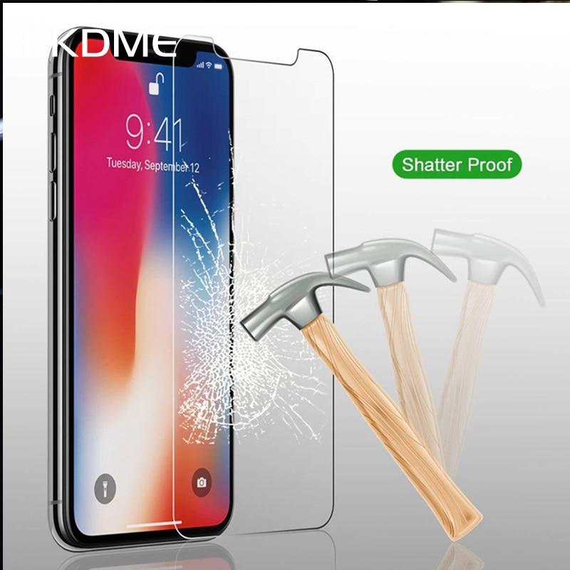 Écran En Verre trempé Pour iPhone XS, XR, XS, MAX,X,7, 6, 6 s, Plus, 5, 5S, SE, XS