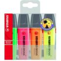 Set de Stabilo Boss (Jaune, Orange, Rose, Vert, 5mm)