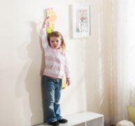 EVEREARTH Toise girafe pour enfants
